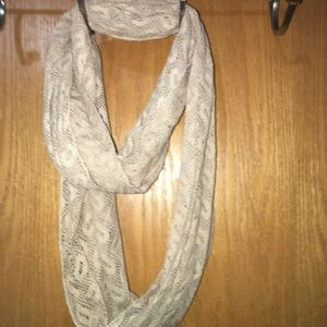 Women's cream infinity scarf